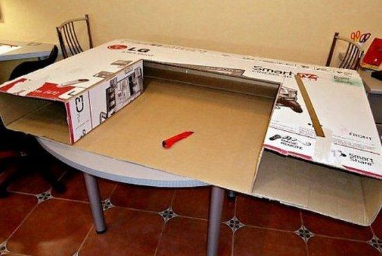 Как сделать телевизор из под коробки 987