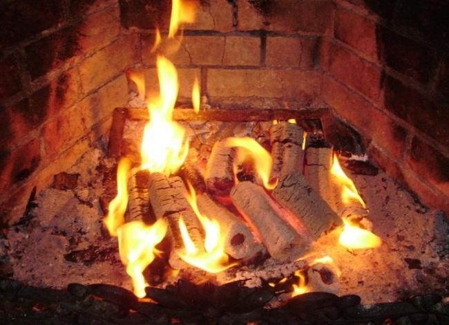 Сжигание в печи евробрикетов