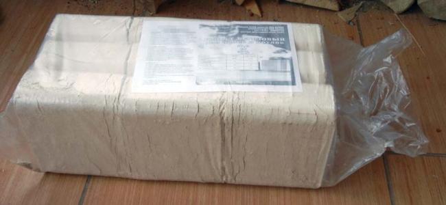 Упаковка топливных брикетов с инструкцией